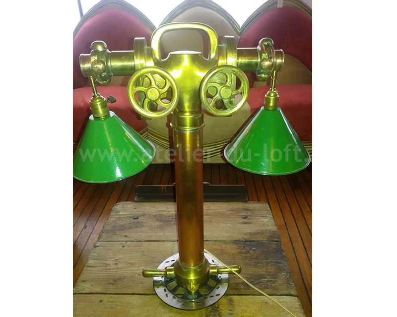 histoire de la marque graslampe salon industriel, lampe colonne d'incendie samaritaine Paris 1800