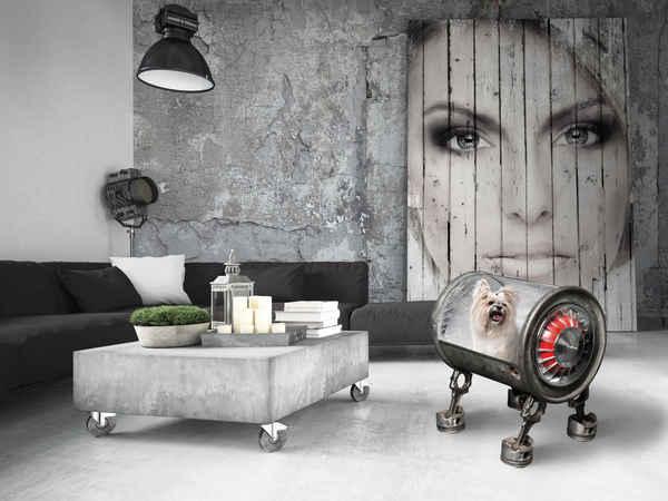 Daniela daude artiste d coration garage sculpture for Hotel avec garage moto