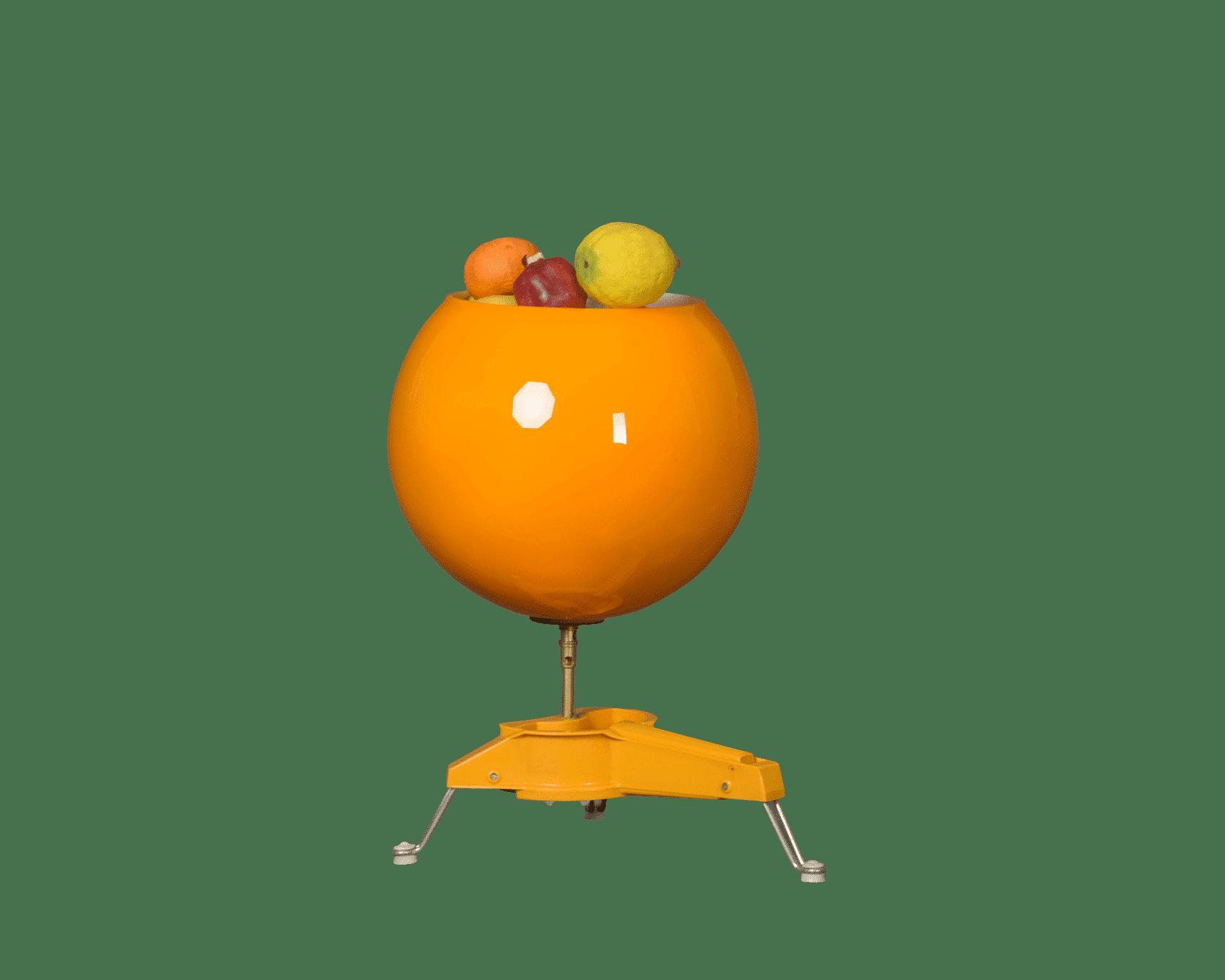 Objet deco retro Corbeille à fruits objet deco vintage design insolite crée à partir d'objet détourné Concepteur d'objets fonctionnels atypiques fantaisies haut de gamme