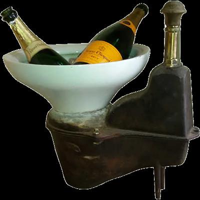 Objet déco design original WC fonte 1900