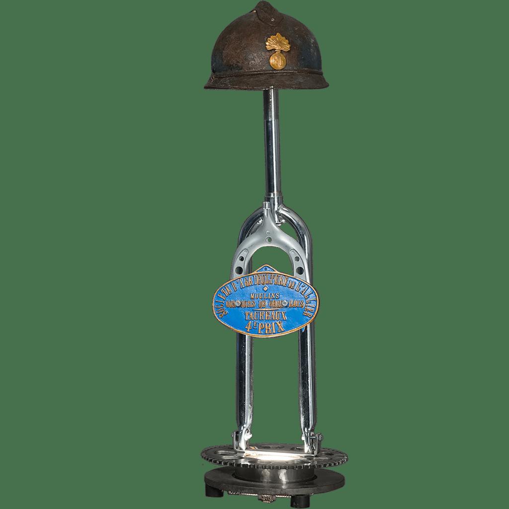 Lampe steampunk Casque Gendarmerie 1915