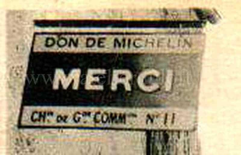 évolution bibendum Michelin Plaque émaillée industrielle merci offerte par Michelin