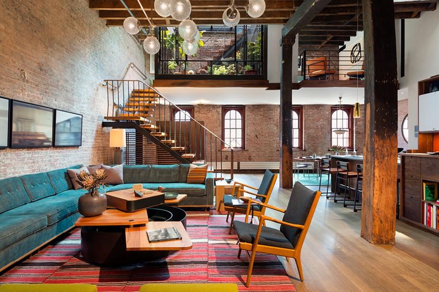 Déco Style loft New Yorkais Suspension vintage esprit quartier du Marais