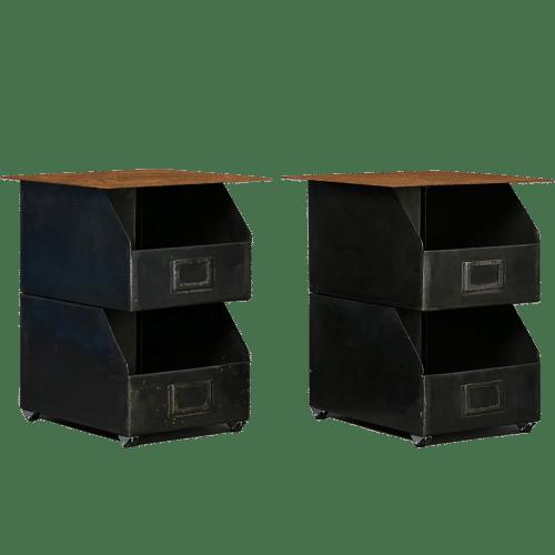 Decoration usine style garage meuble avec pieces d tach es for Table style usine
