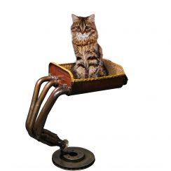 Daniela DAUDE artiste créations artistiques de mobilier design pour animaux des pièces uniques un arbre a chat de luxe un accessoire fantaisie haut de gamme