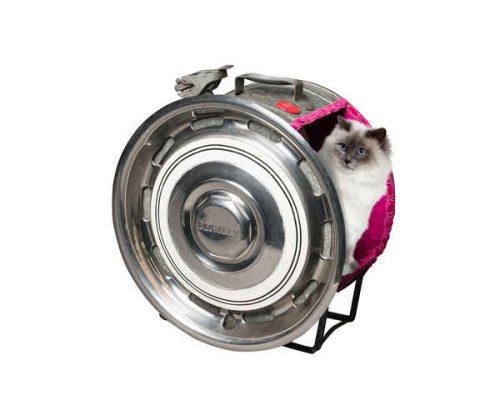 Artiste designer création d'accessoire et mobilier chat luxe pour animaux de compagnie, des pièces artisanales, uniques du mobilier chic fantaisie insolite