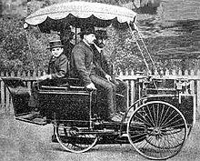 Tricycle à vapeur De Dion Bouton vainqueur de la course 1885