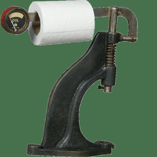 Déco toilette original Compteur huile 40s
