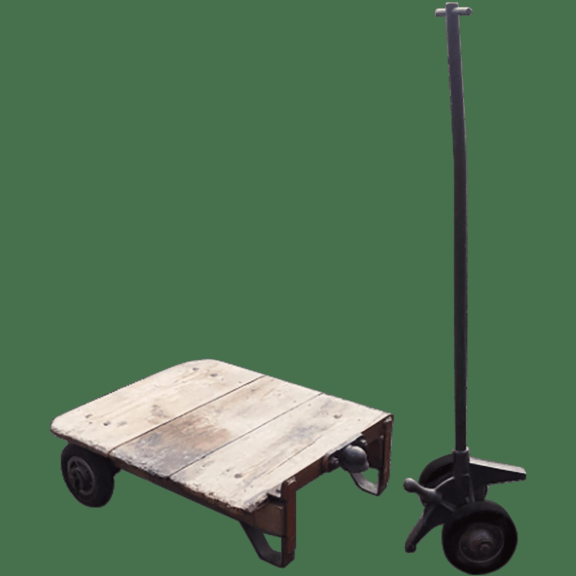 Objet deco loft ancien chariot factory vintage de garage desaffect - Table basse atelier loft ...