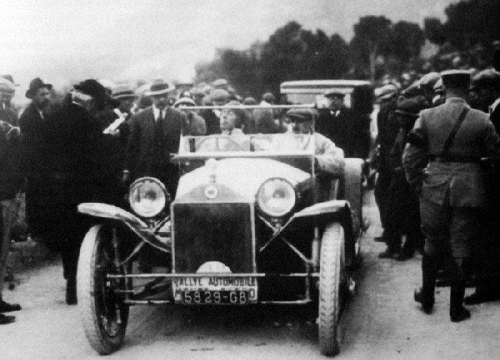 1925 lancia Madame Martens 2ème au Rallye de Monte Carlo