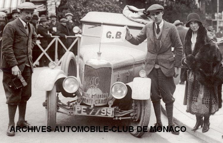 1926 Rallye de Monte-Carlo Victor Bruce vainqueur