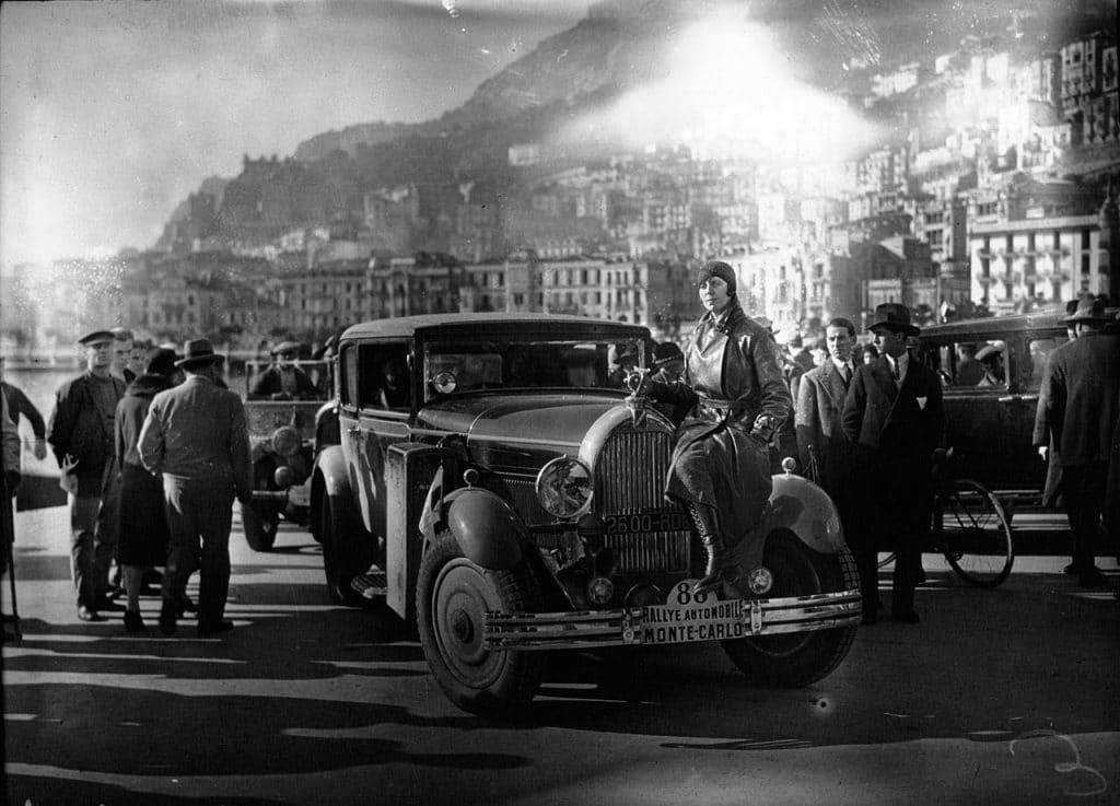 Lucy Schell au Rallye Monte-Carlo en 1930, alors sur Talbot.