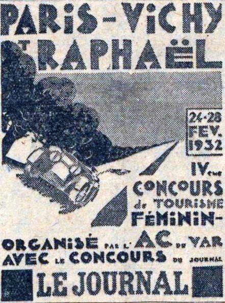 1932 Rallye pilotes féminines Paris-Vichy-St_Raphael