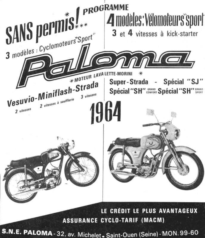 Premier cyclomoteur PALOMA de Michel Rougerie
