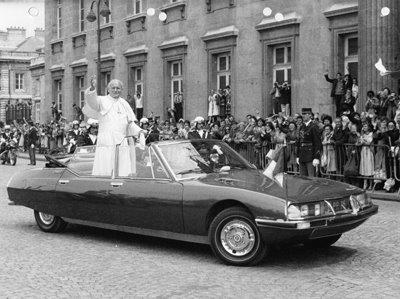 Citröen SM Présidentielle visite du Pape en france