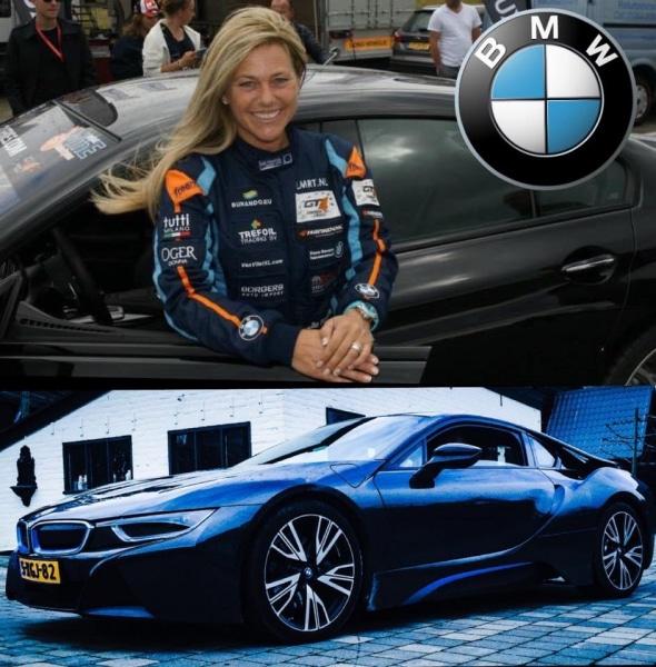 Daniela DAUDE artiste sur l'univers automobile Mobilier avec pièces détachées auto moto Article sur Liesette Braams Femme pilote belle et talentueuse