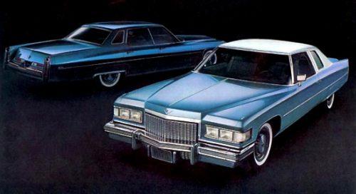 Cadillac Calais et Cadillac Sedan 1975