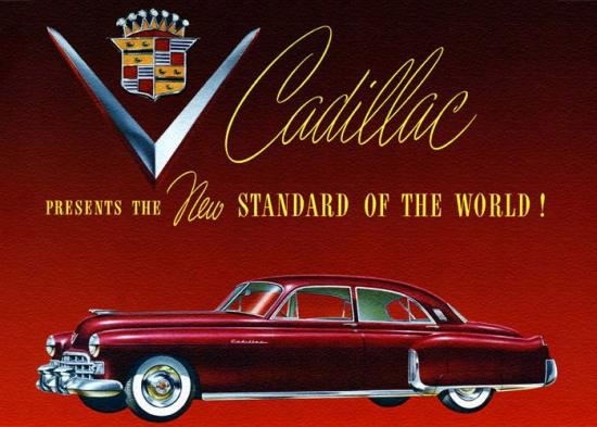 Cadillac après guerre 1948 60s