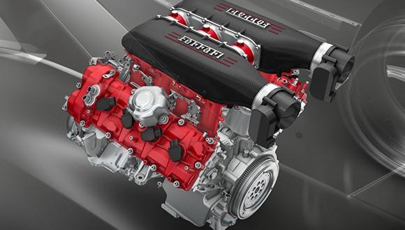 Moteur de la Ferrari 458 MM