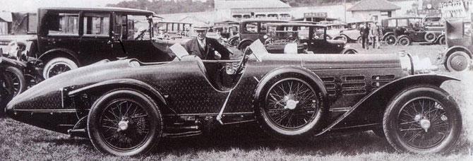 Hispano Suiza H6C en lamelles de bois 46Ch TULIPWOOD carrossé par Nieuport
