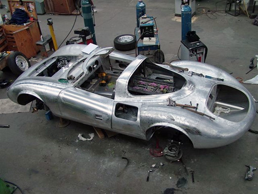 Jaguar XJ13 en construction