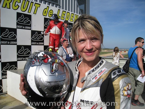 Karine Sliz, N°1, seule féminine de l'épreuve