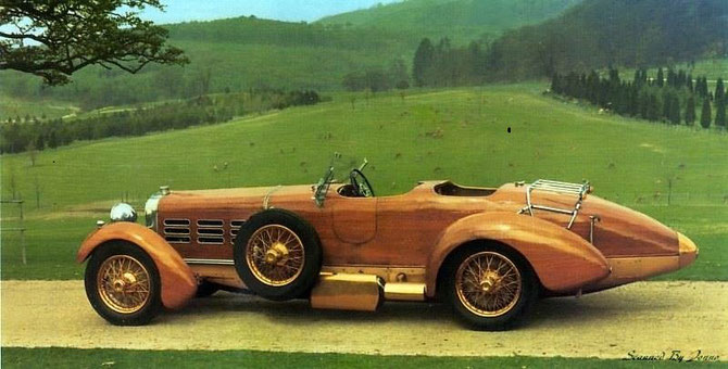 Hispano Suiza Torpedo Tulipwood 1924