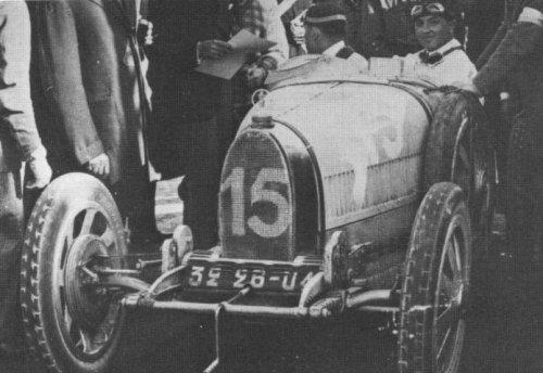 André Dubonnet, en 1926 à la Targa Florio, sur Bugatti Type 35