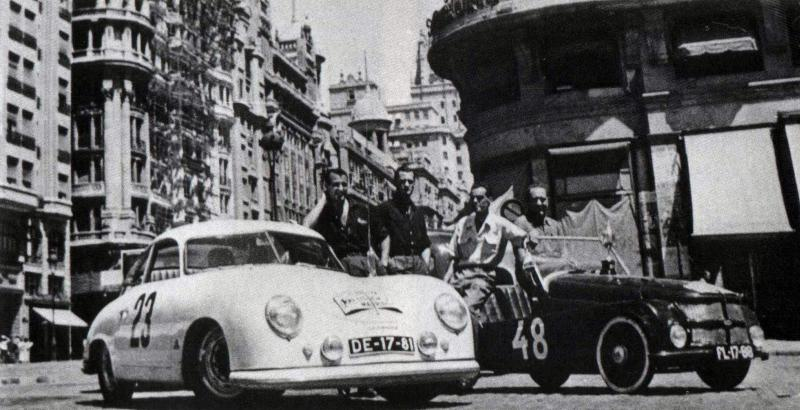 Porsche 356 1954 - Paul Kleinschnittger - 2nd - Lisbon-Madrid Rally