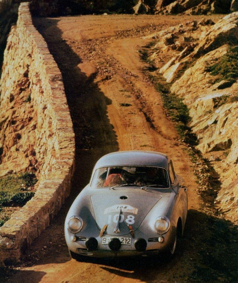 Porsche 356 vainqueur Tour de Corse 1960 Ernst STRAHLE et Herbert LINGE