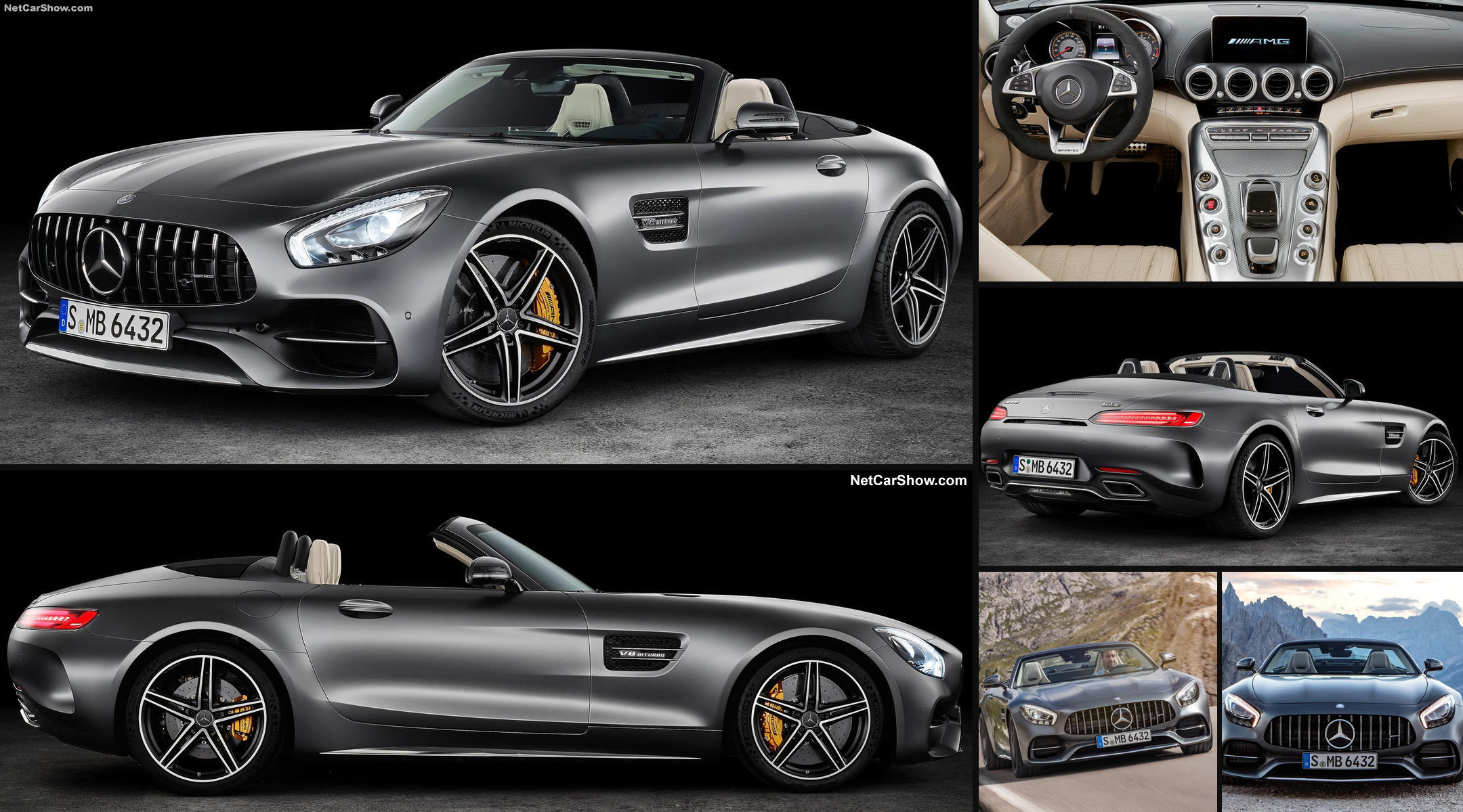 mercedes amg gt roadster avec un look d 39 enfer v8 biturbo. Black Bedroom Furniture Sets. Home Design Ideas