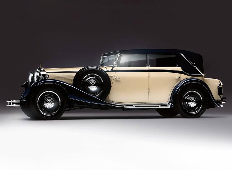 Maybach Zeppelin DS8 4-door Cabriolet 1930 1934 Suresnes Auto Retro Rassemblement et expo ballade dans la ville avec 200voitures anciennes, découverte du patrimoine Suresnois