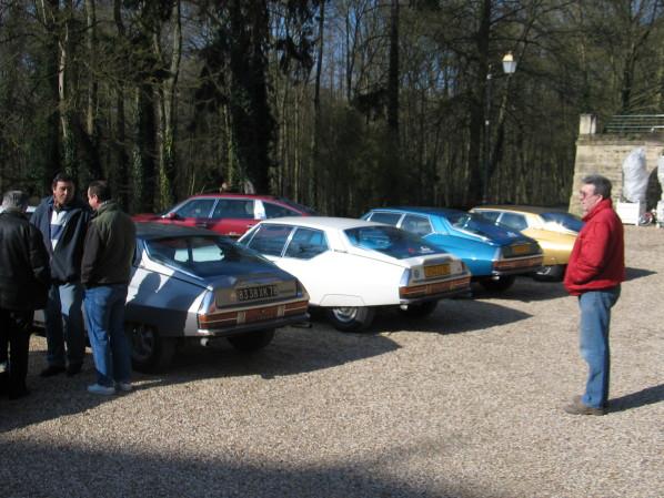 Rencontre mensuel au château de Grouchy OSNY1 photo du blog La Citroën SM....une passio