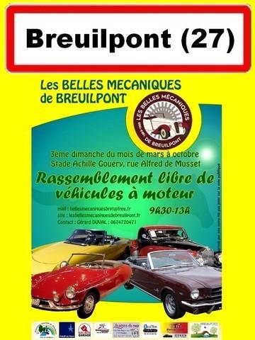 Mensuel autos anciennes BREUILPONT 3e dimanche organisé par Belles mécaniques de Breuilpont Agenda événements auto moto Daniela DAUDE artiste ART automobile