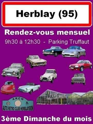 Rassemblement mensuel Herblay en anciennes, sortez vos voitures anciennes oud'exception, sauf véhicules militaires
