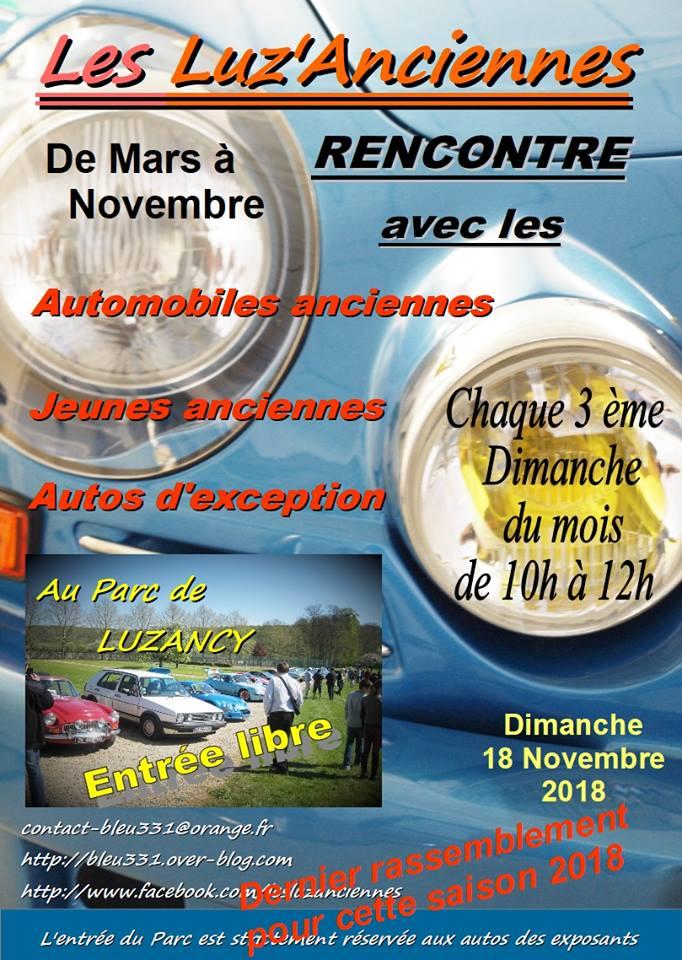 Venez rejoindre notre Mensuel auto Les Luz'Anciennes LUZANCY, ambiance conviviale