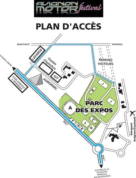 PLAN Avignon Motor Festival épopée de 3 jours à ne pas manquer avec son immense bourse Agenda événements auto moto de Daniela DAUDE Artiste mobilier avec pièces détachées de voitures et motos