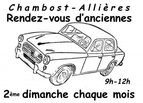 Mensuel autos motos CHAMBOST-ALLIERES 2e dimanche convivial d'échanges entre fans Agenda événements autos motos de Daniela DAUDE artiste Art automobile