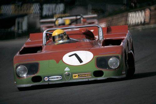 Alfa Romeo 33TT3 Brands Hatch 1000km - 1972 Driver Nanni Galli Historic Tour Dijon Prenois F.Ford Kent, F3Classic, FRenault Classic, GT Classic,...  Atelier du Loft Agenda auto moto de Daniela DAUDE artiste ART/auto