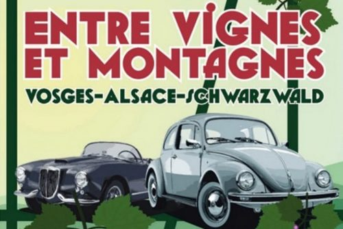 Rallye Entre Vignes et Montagnes 2 formules 4 ou 2 jours sur les routes Alsaciennes, visite du musée de l'auto Mulhouse, et d'une collection privée de voitures très rares dans la forêt noire- Agenda auto moto de Daniela artiste Mobilier avec pièces auto moto