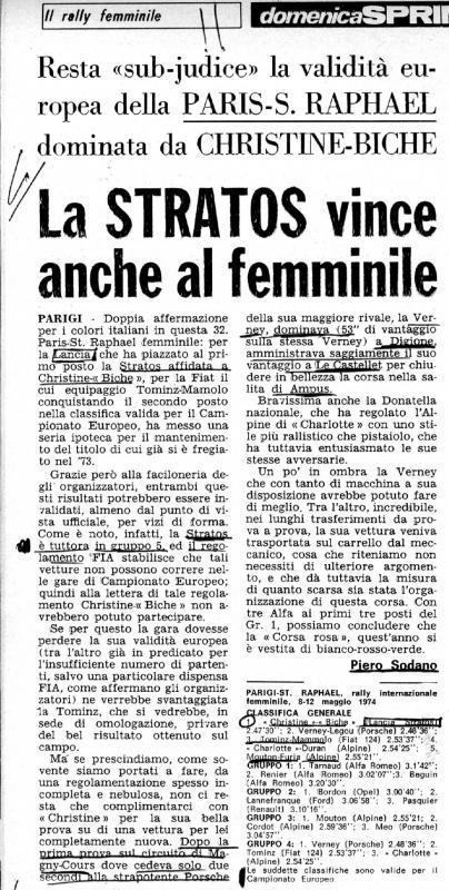 hristine Beckers et Biche Rallye Paris - Saint-Raphaël Féminin