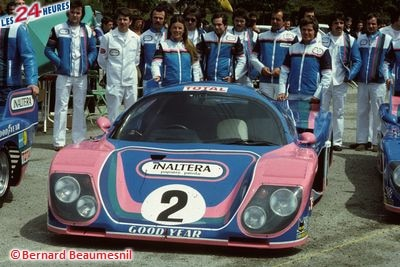 12.06.1977 les 24 H du Mans sur Inaltera GR6 n°2, Moteur Ford Cosworth DFV V8 2993cc, Lombardi / Christine Beckers