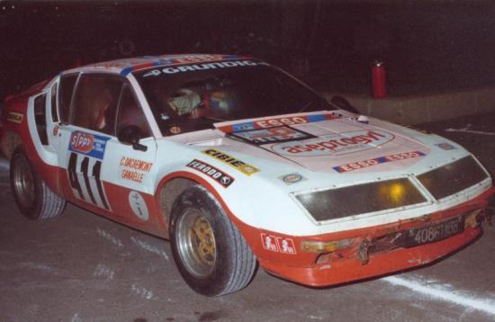 Christine Dacremont-Ganaelle Tour Auto 1976