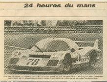 1975 Christine Dacremont aux 24h du Mans elle termine 2ème de son groupe GTP