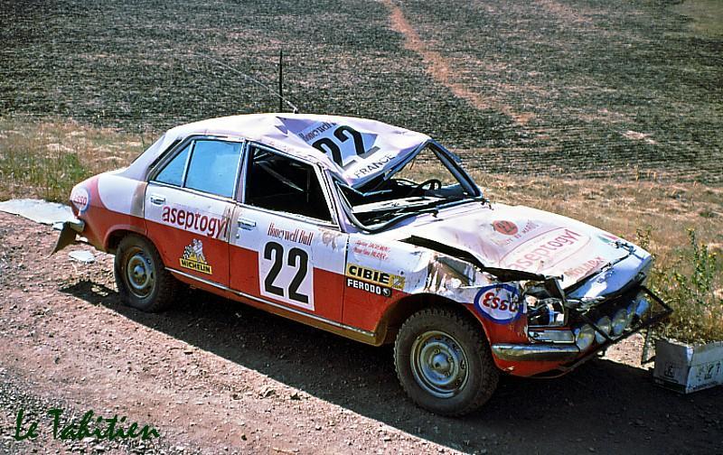 Rallye de la Coupe de Monde Londres Sydney, Christine Dacremont eut un accident en Australie